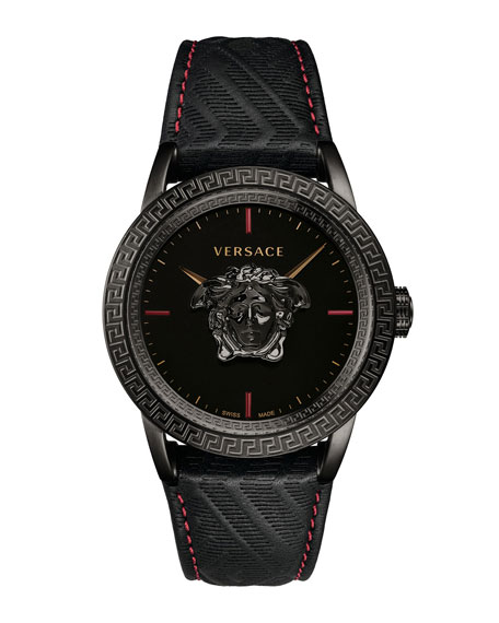Versace Men's 43Mm Palazzo Empire Watch, Black