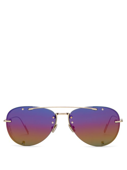 dc4f5c5366fb7 Dior Homme Dior Chroma 1 Aviator-Style Sunglasses In Gold