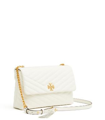 25aef43c0442 Tory Burch Kira Chevron Flap Shoulder Bag In White