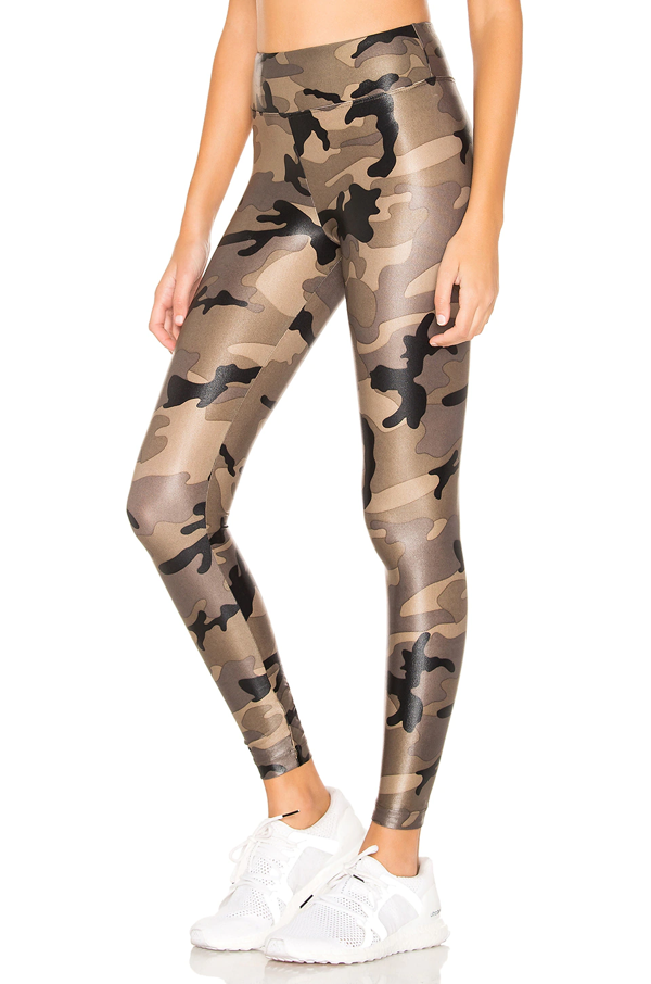 Koral Camouflage-print Lustrous High-shine Stretch-jersey Leggings In Army Green