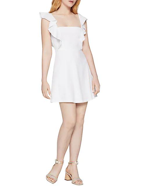 Bcbgeneration Ruffled Dress In Optic White