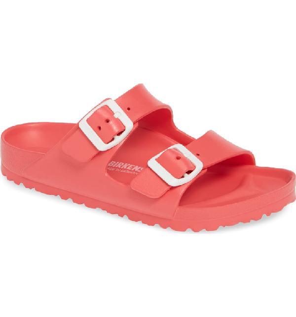 Birkenstock Essentials - Arizona Slide Sandal In Coral Eva