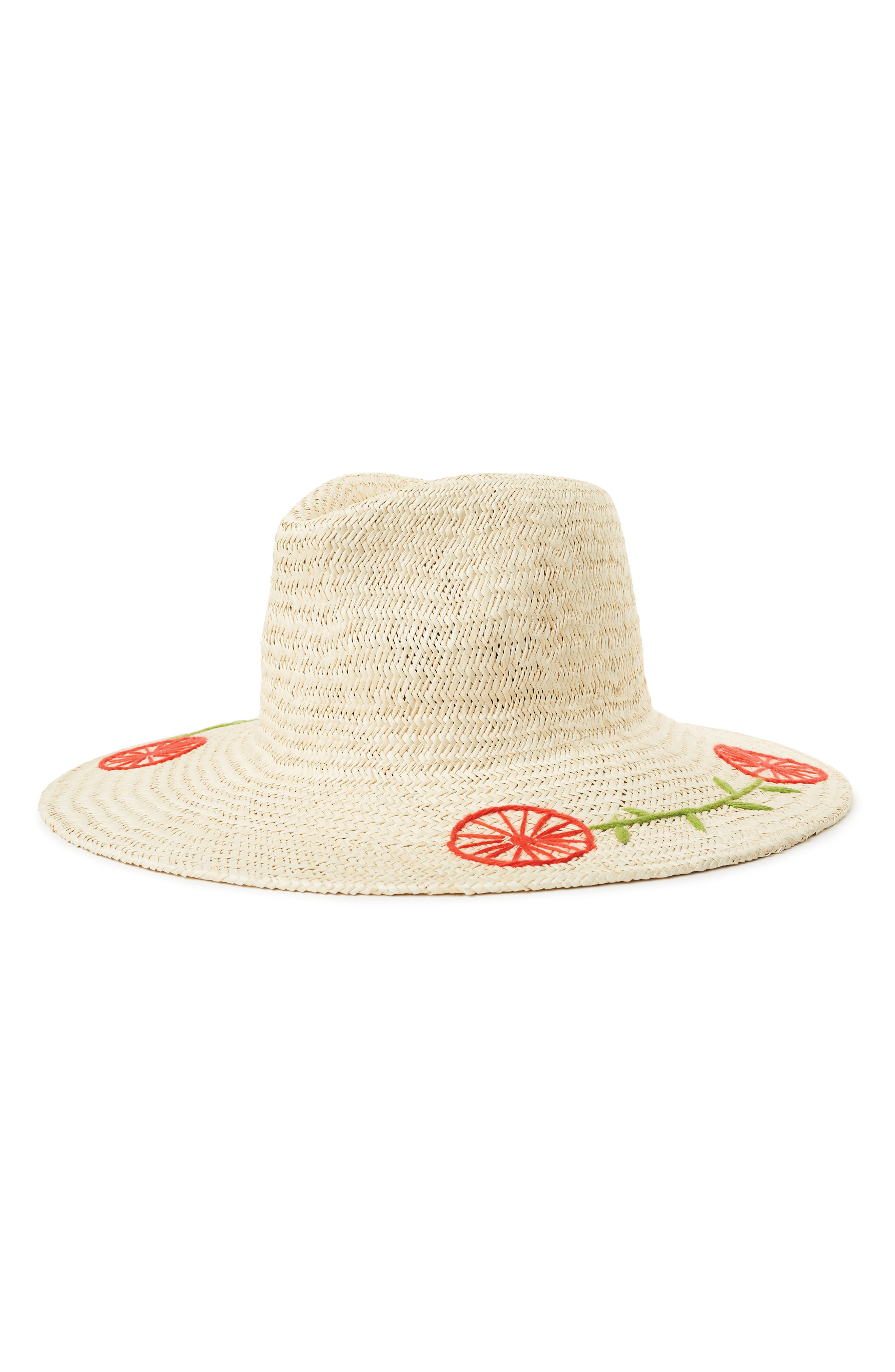a432dcbf493 Brixton Joanna Embroidered Straw Hat - Beige In Tan