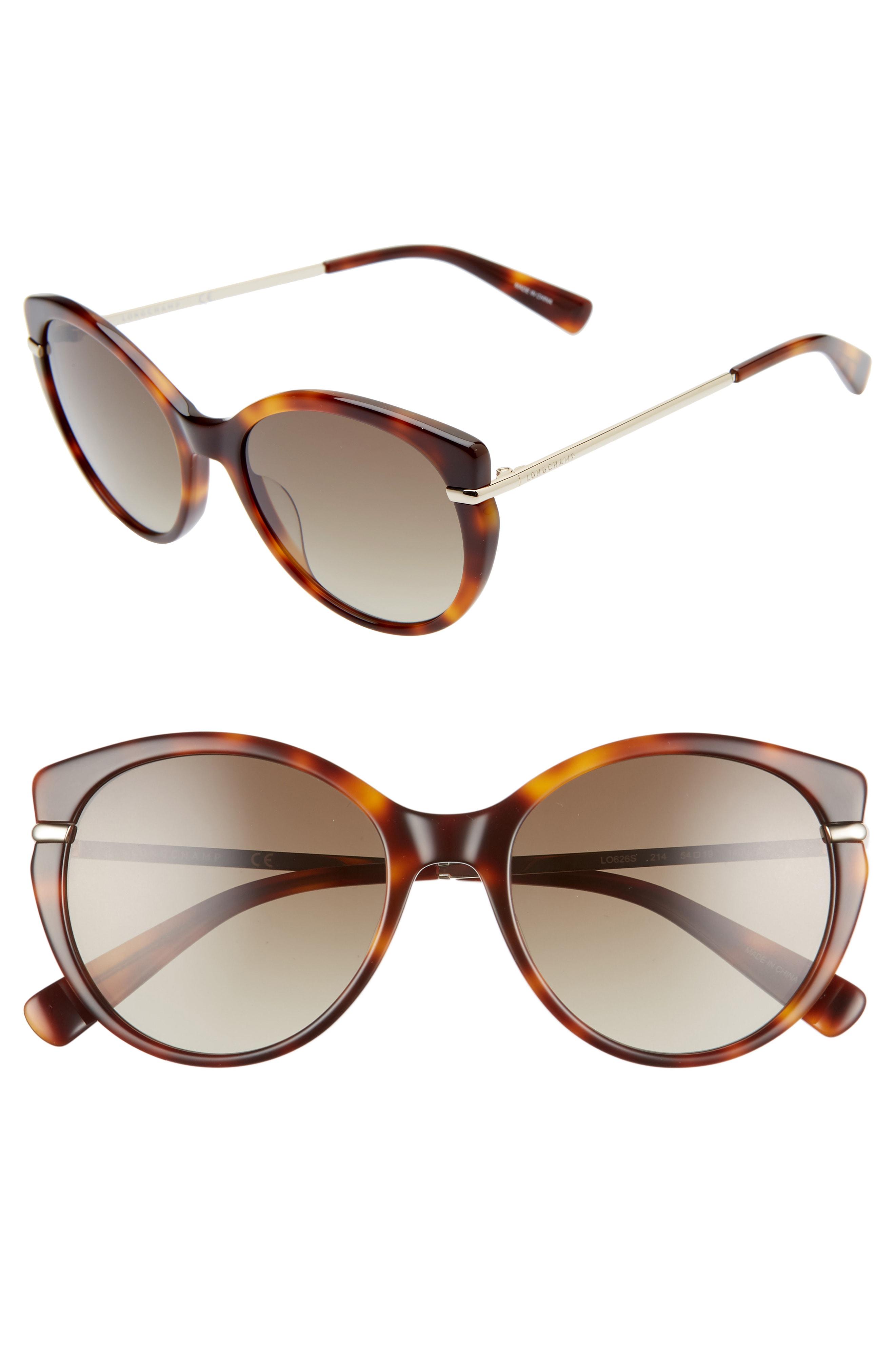 97ee53333ba8 Longchamp Heritage 54Mm Gradient Cat Eye Sunglasses - Havana | ModeSens