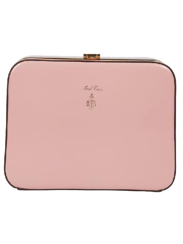 Mark Cross Frame Shoulder Bag In Pink