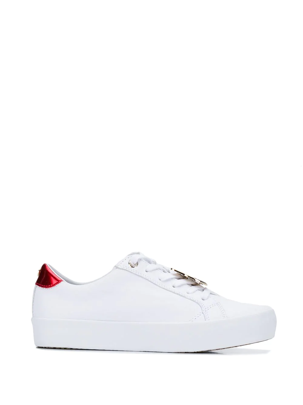 909229708 Tommy Hilfiger Lace-Up Sneakers - White