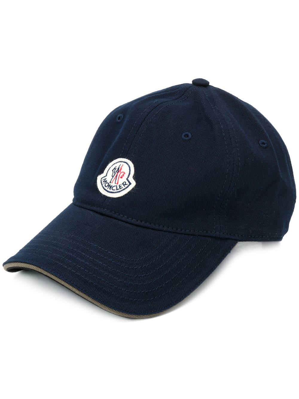56dfc8838 Moncler Logo Patch Cap - Blue