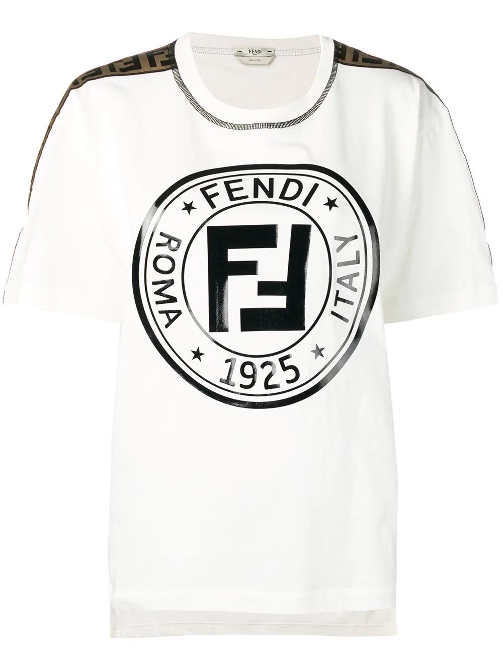 c4d8b3af48e6ea Fendi Logo T-Shirt - White | ModeSens