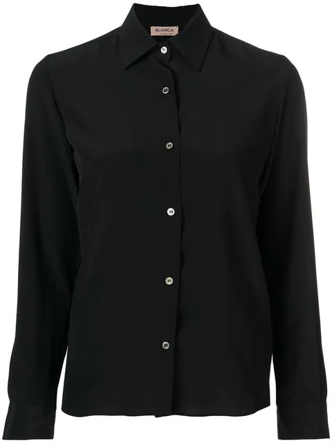 Blanca Long Sleeved Shirt In Black