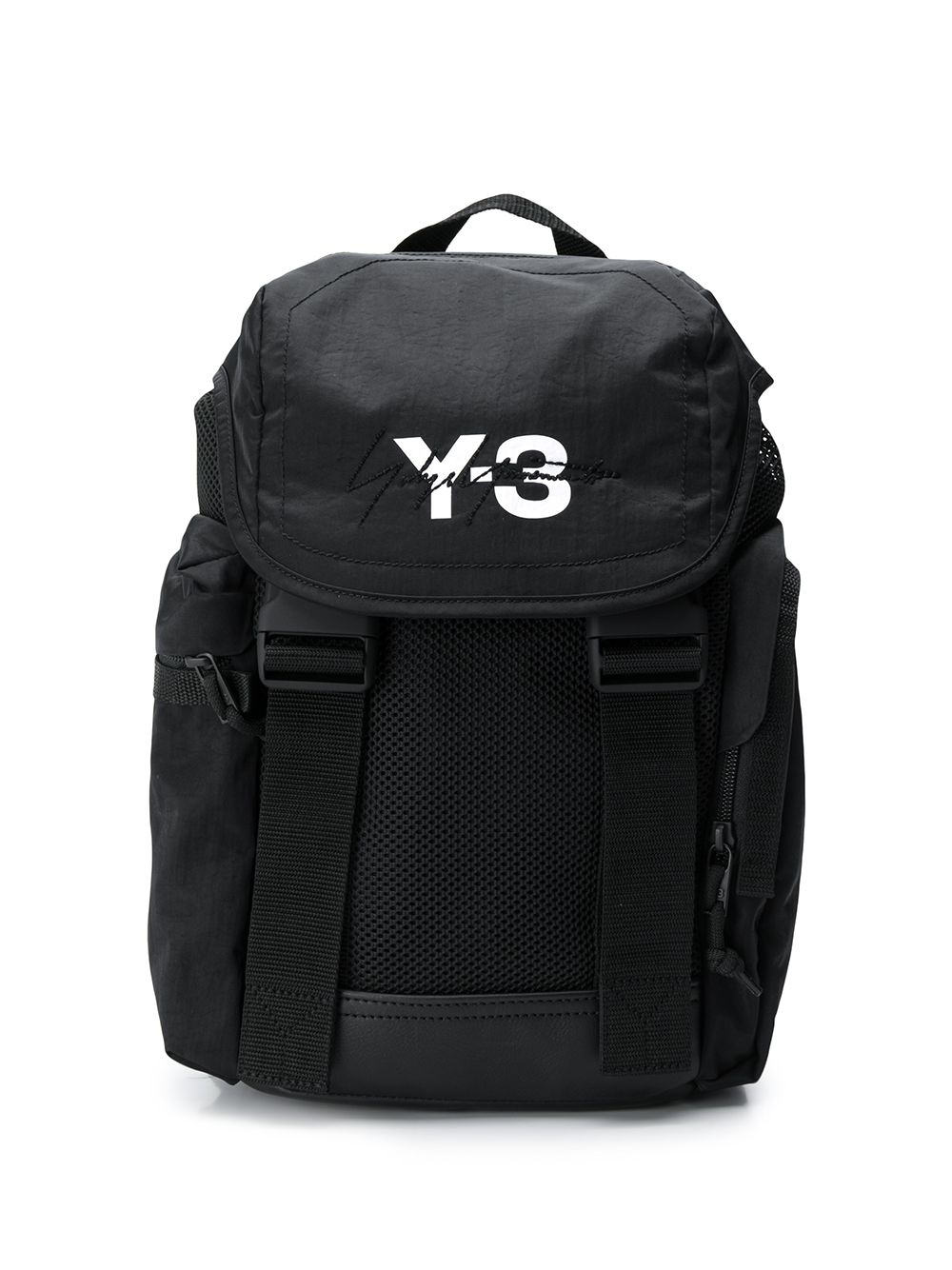 6506d7c2b41a7 Y-3 Black Mobility Logo Print Backpack
