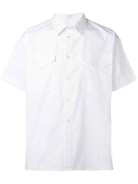 Msgm Short-sleeved Shirt In White