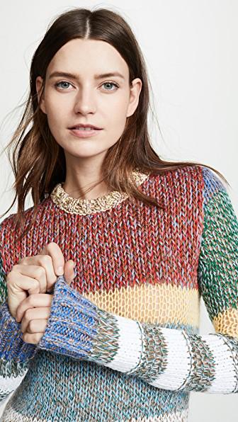 N°21 N Degree21 Colorblock Sweater In Multi
