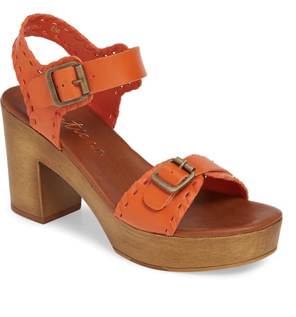 Matisse Twiggy Platform Sandal In Fire