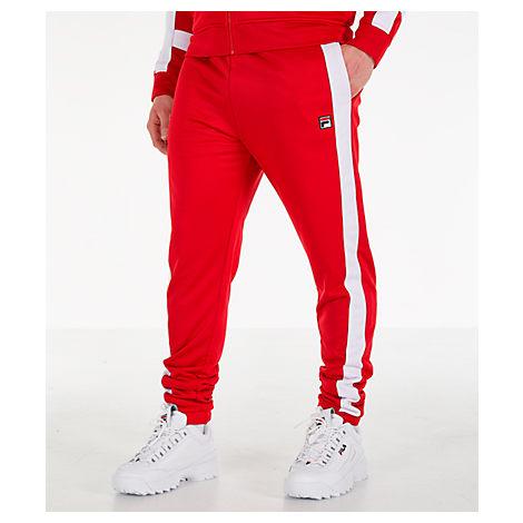 Fila Men's Renzo Track Pants In Red Size Medium Twill/Knit