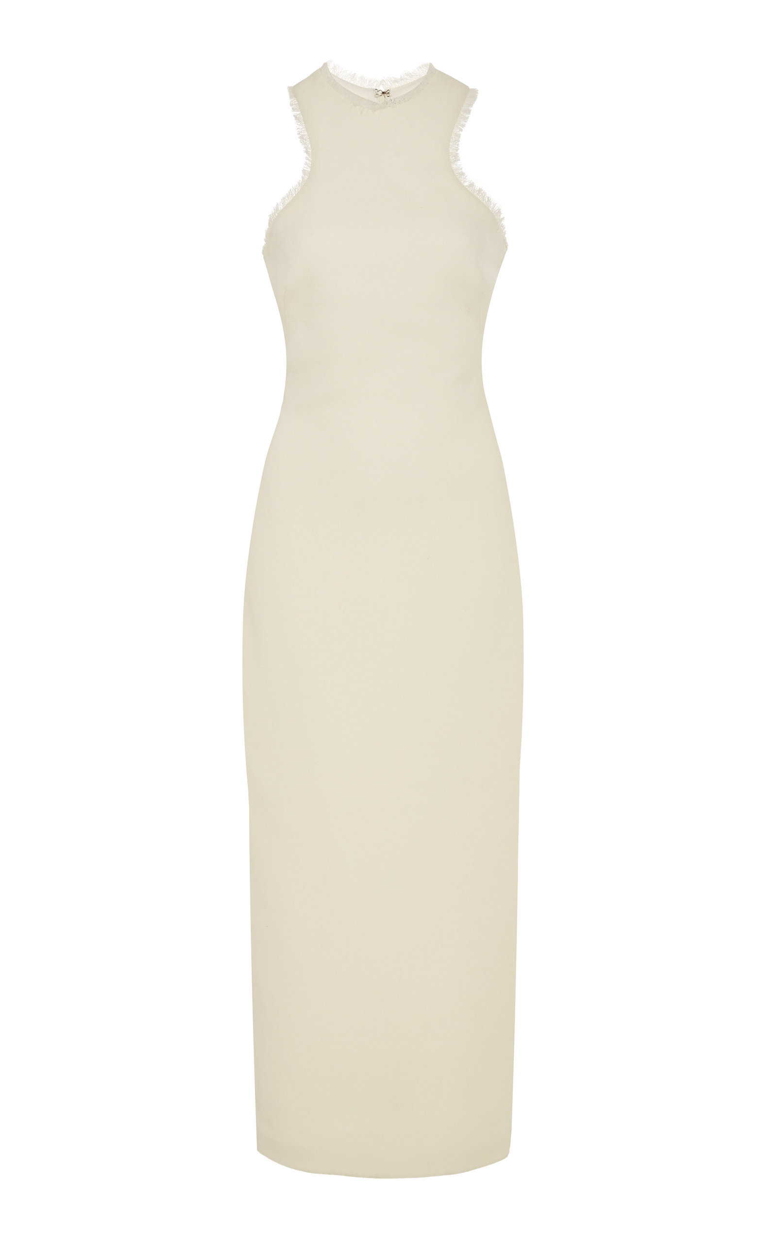 1b89b6fdbf Brandon Maxwell Racerback Wool Sheath Midi Dress In White