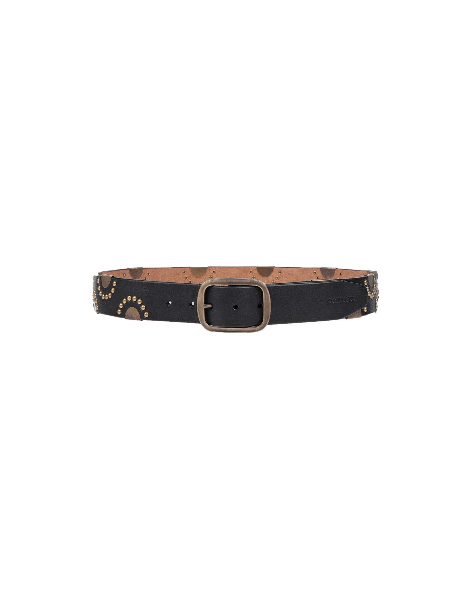 Dsquared2 Leather Belt In Dark Brown
