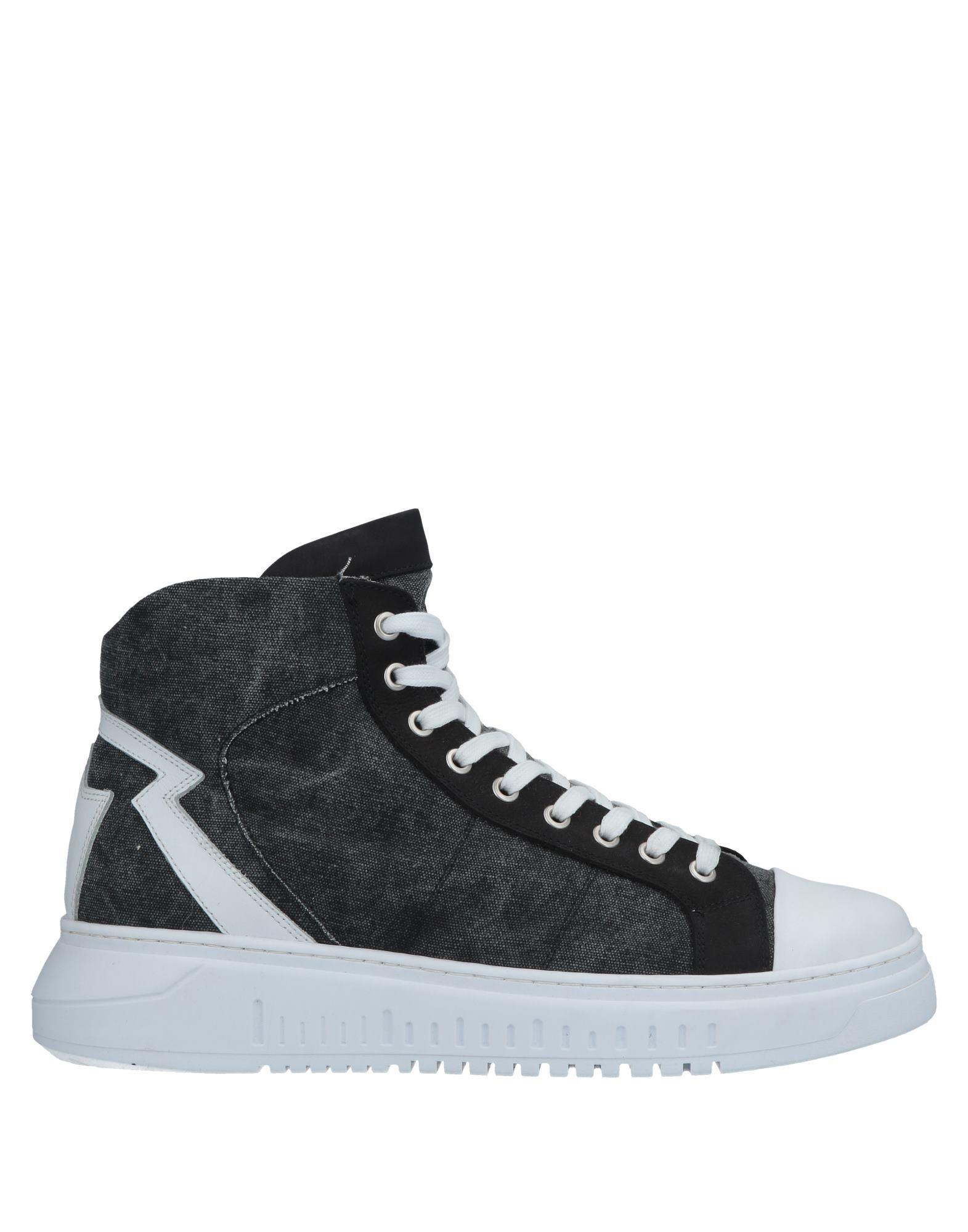 Savio Barbato Sneakers In Steel Grey