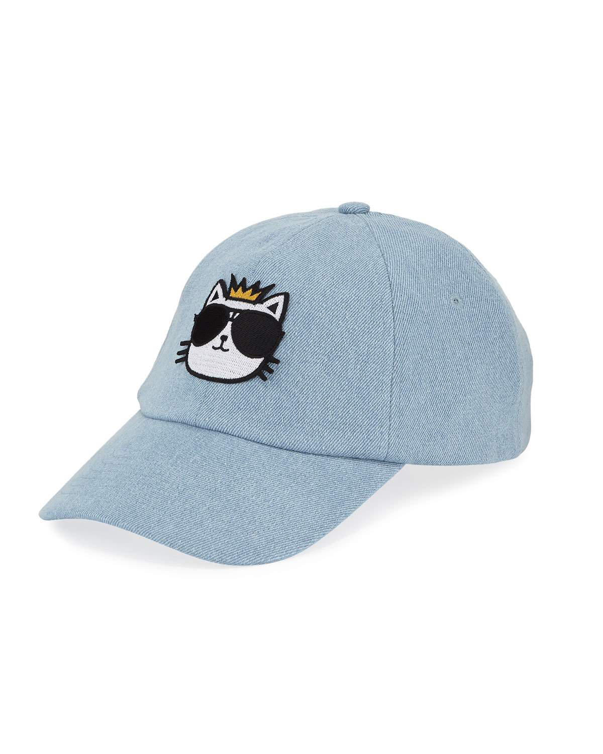 1875ec3bb9945 Karl Lagerfeld Choupette Patch Baseball Cap In Blue