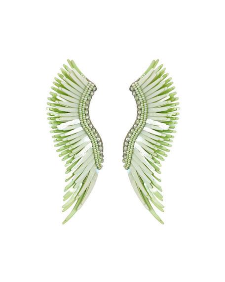 Mignonne Gavigan Madeline Beaded Statement Earrings In Light Green