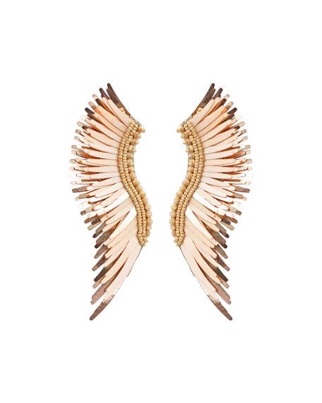 Mignonne Gavigan Madeline Beaded Statement Earrings In Peach