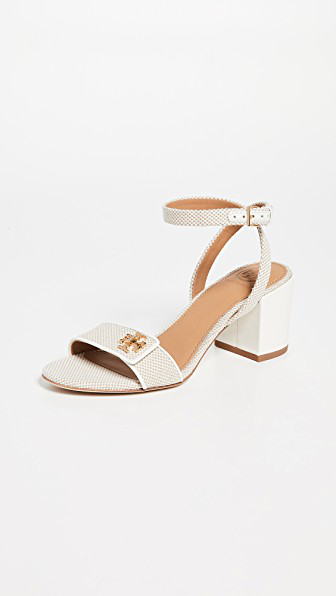 7c72c343 Tory Burch Women's Kira Block Heel Sandals In Natural/Perfect Ivory ...