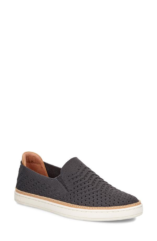 8650eb91394 Women's Sammy Chevron Knit Slip-On Sneakers in Charcoal Suede