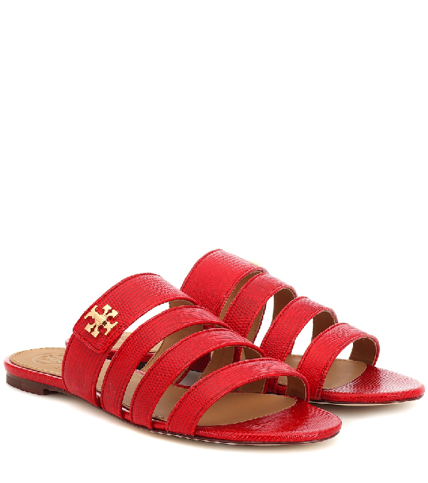bac15173bc91 Tory Burch Women s Kira Multi-Band Slide Sandals In Red