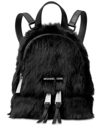 f3e6bb347947 Michael Kors Michael Rhea Zip Mini Messenger Backpack In Black ...