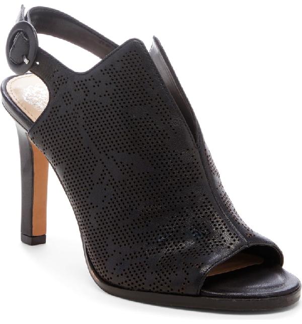 ff0e8bf2358 Vince Camuto Nattey2 Shield Slingback Sandal In Black Leather