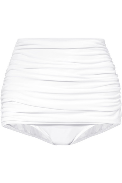 Norma Kamali Bill High-Rise Bikini Briefs In White