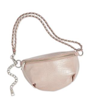 Steve Madden Ida Belt Bag In Nude/Silver