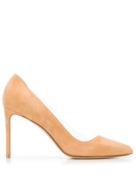 Francesco Russo Pointed Toe Pumps In Neutrals