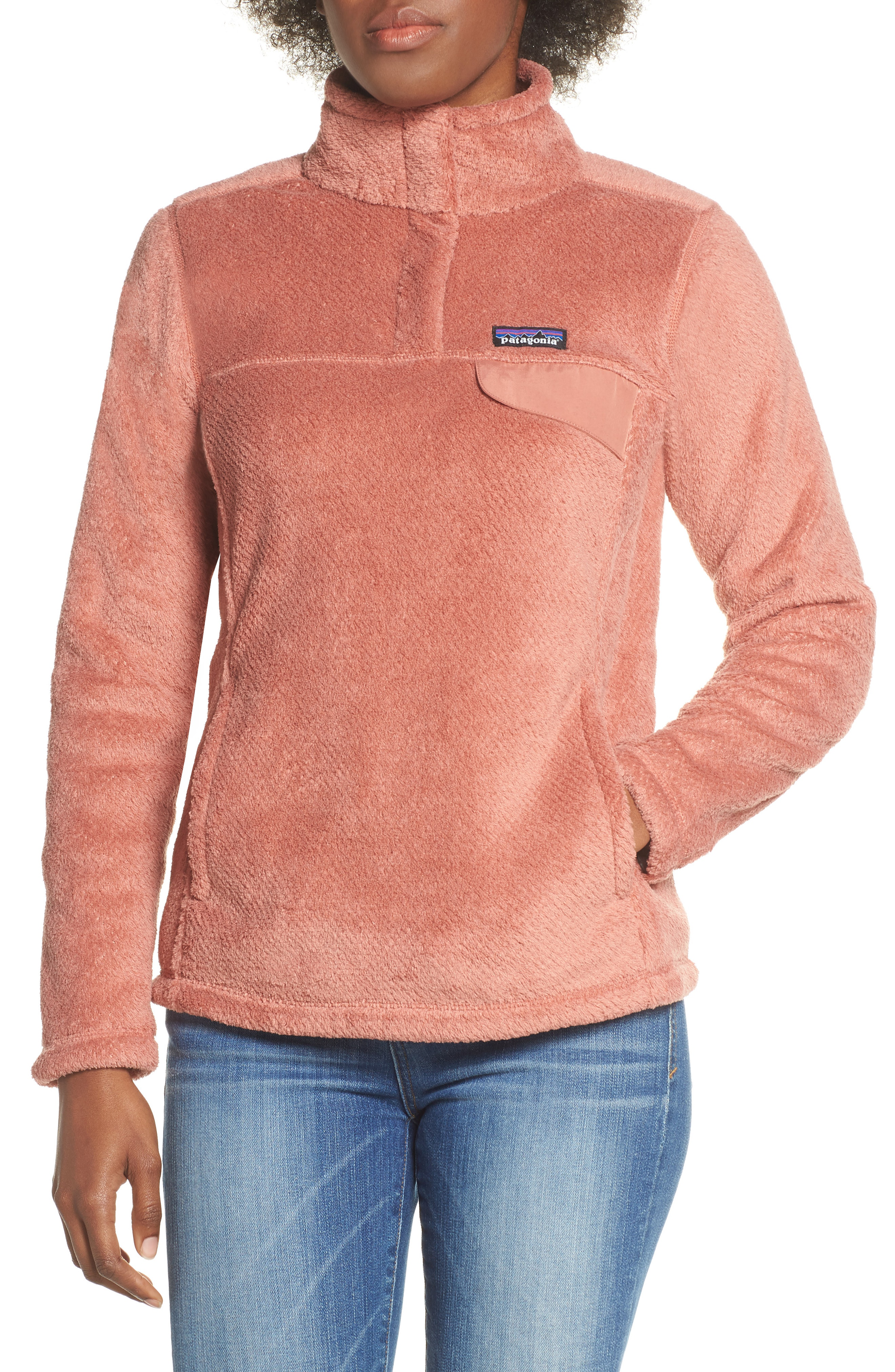 Patagonia Re-Tool Snap-T Fleece Pullover In Century Pink Flora Pink X