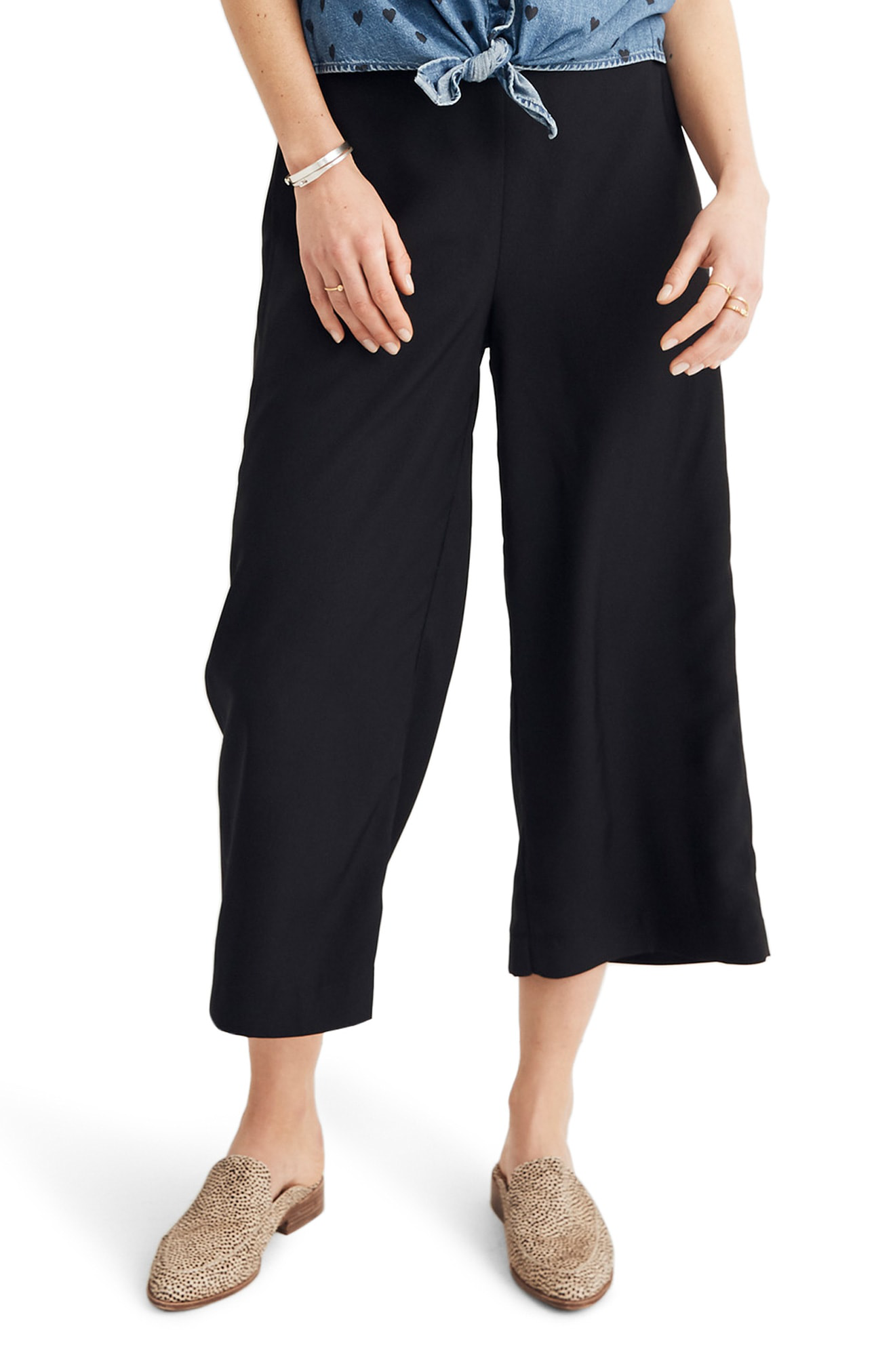d830d21ac7 Madewell Huston Pull-On Crop Pants In True Black
