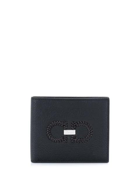 Salvatore Ferragamo Bifold Gancini Wallet In Black