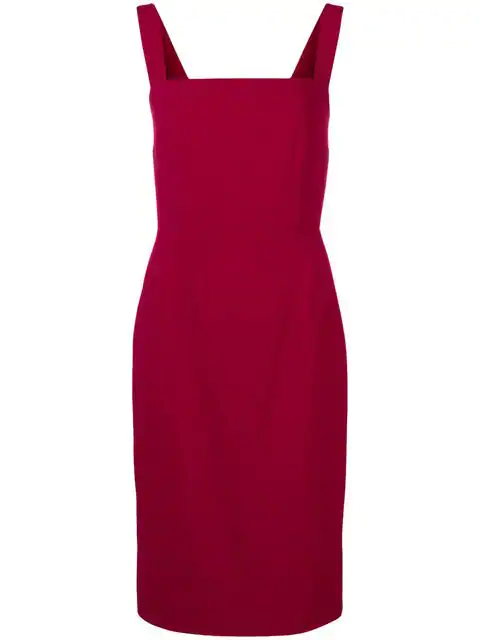 Dolce & Gabbana Crepe Dress In Red