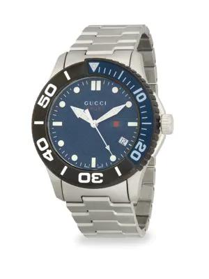 Gucci 126Xl Stainless Steel Bracelet Watch In Silver