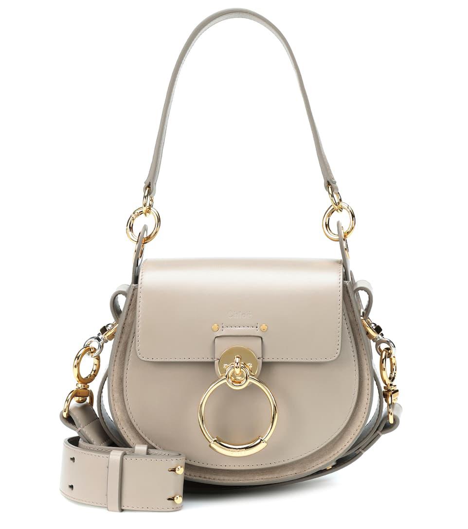 92b0d5a1e68a ChloÉ Tess Small Leather/Suede Camera Crossbody Bag In Beige | ModeSens