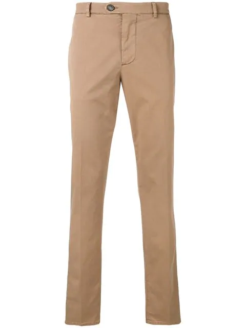 Brunello Cucinelli Straight-leg Trousers In Pink