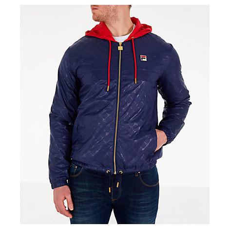 Fila Men's Copper Full-Zip Wind Jacket In Blue