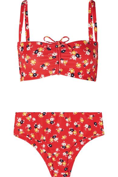 0298b683d5 Faithfull The Brand Tessa And Noelle Floral-Print Bikini In Red ...