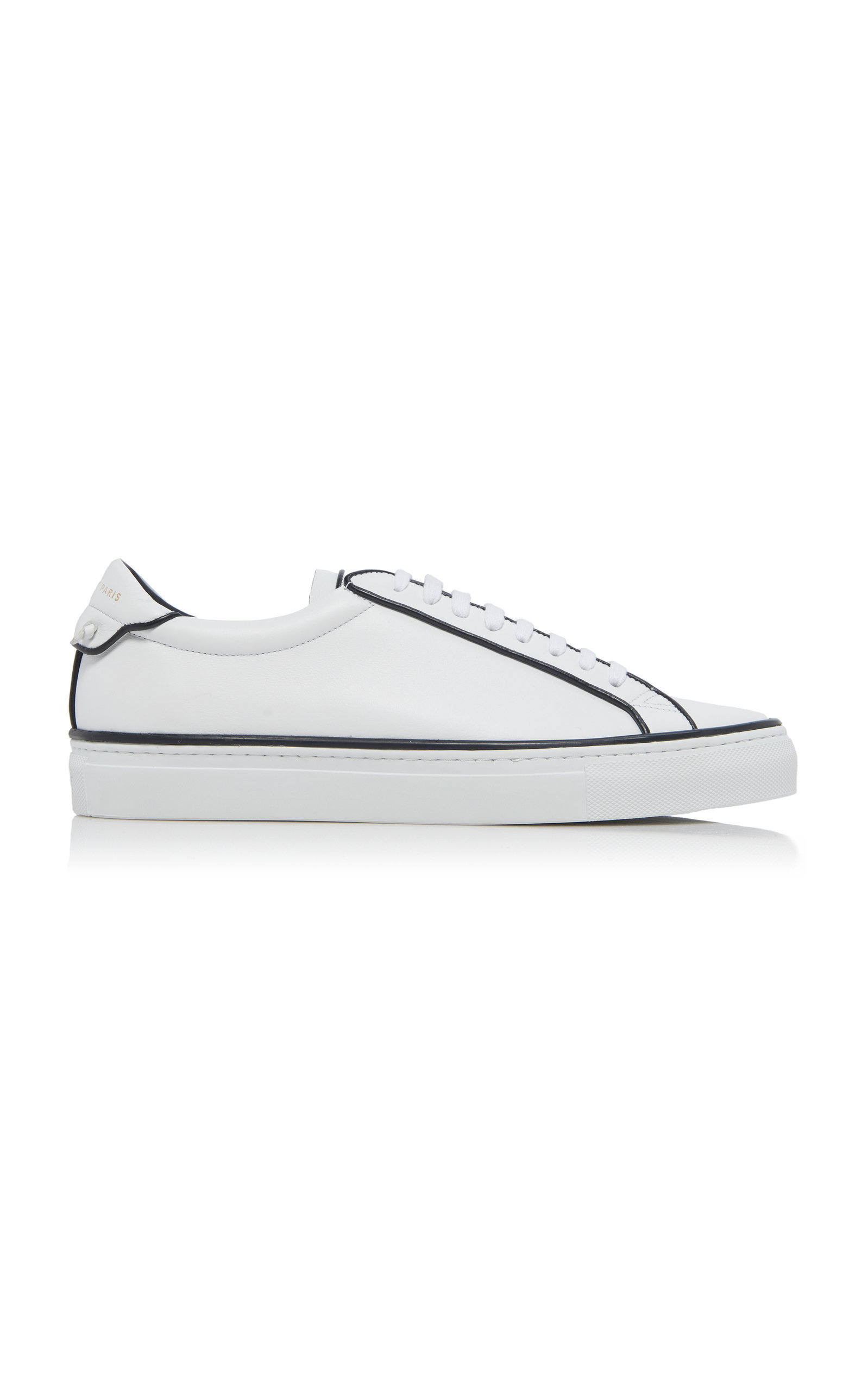 Givenchy Urban Street Leather Sneakers In Black/White
