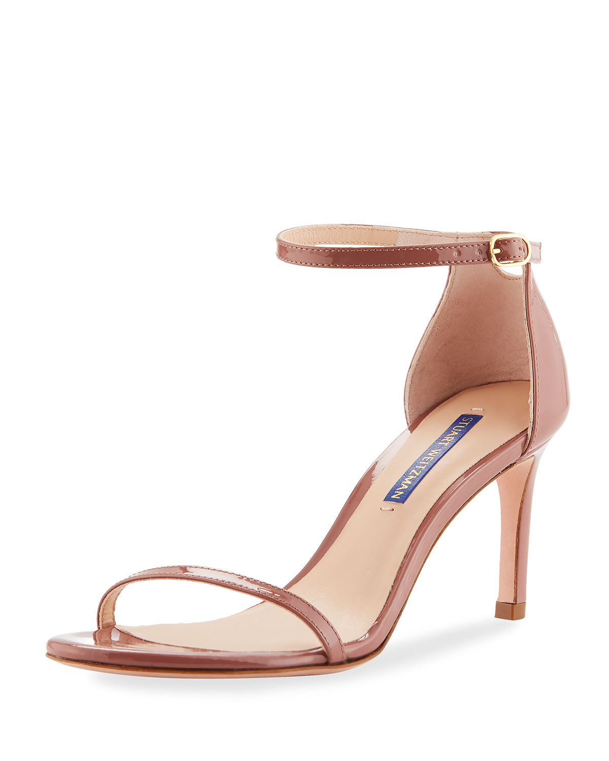 1fb88f690be Nudist 80 Patent Leather Naked Sandals in Rose Clay