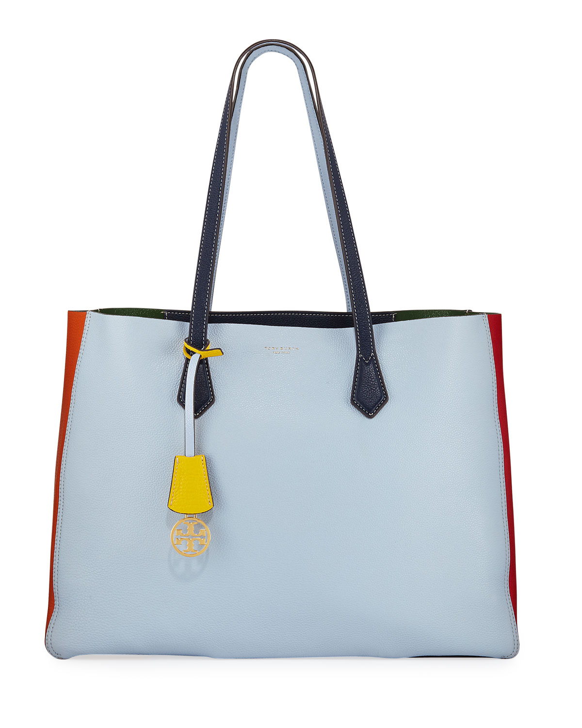 fa0bb502803 Tory Burch Perry Large Colorblock Tote Bag In Multi | ModeSens
