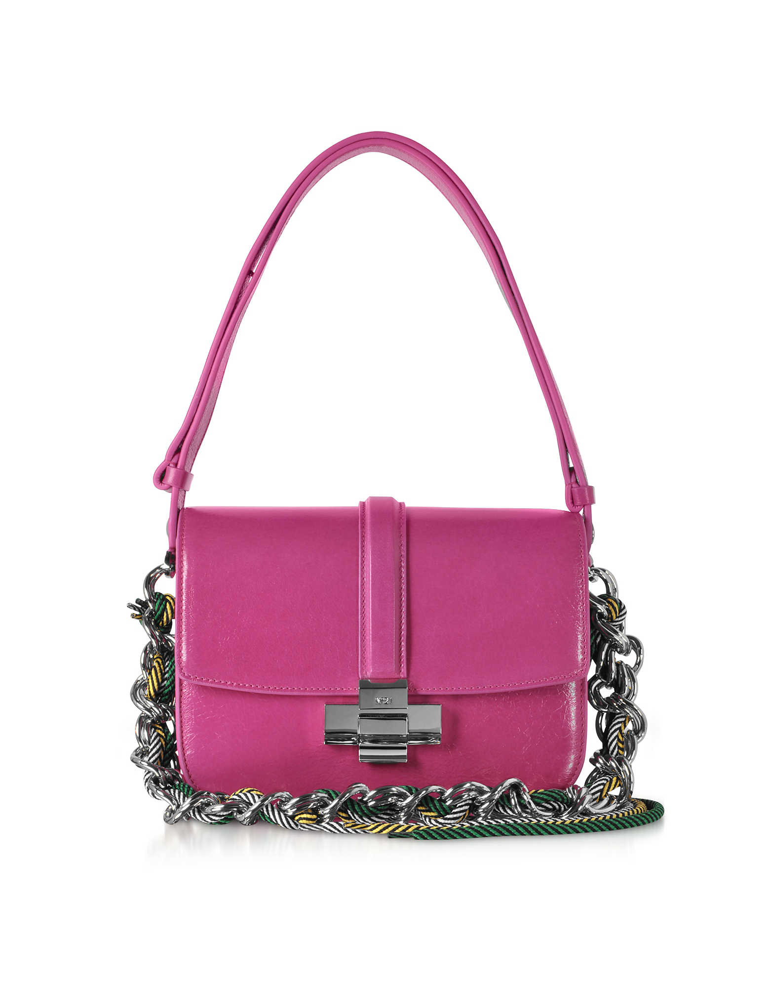 N°21 Fuchsia Leather Lolita Bag