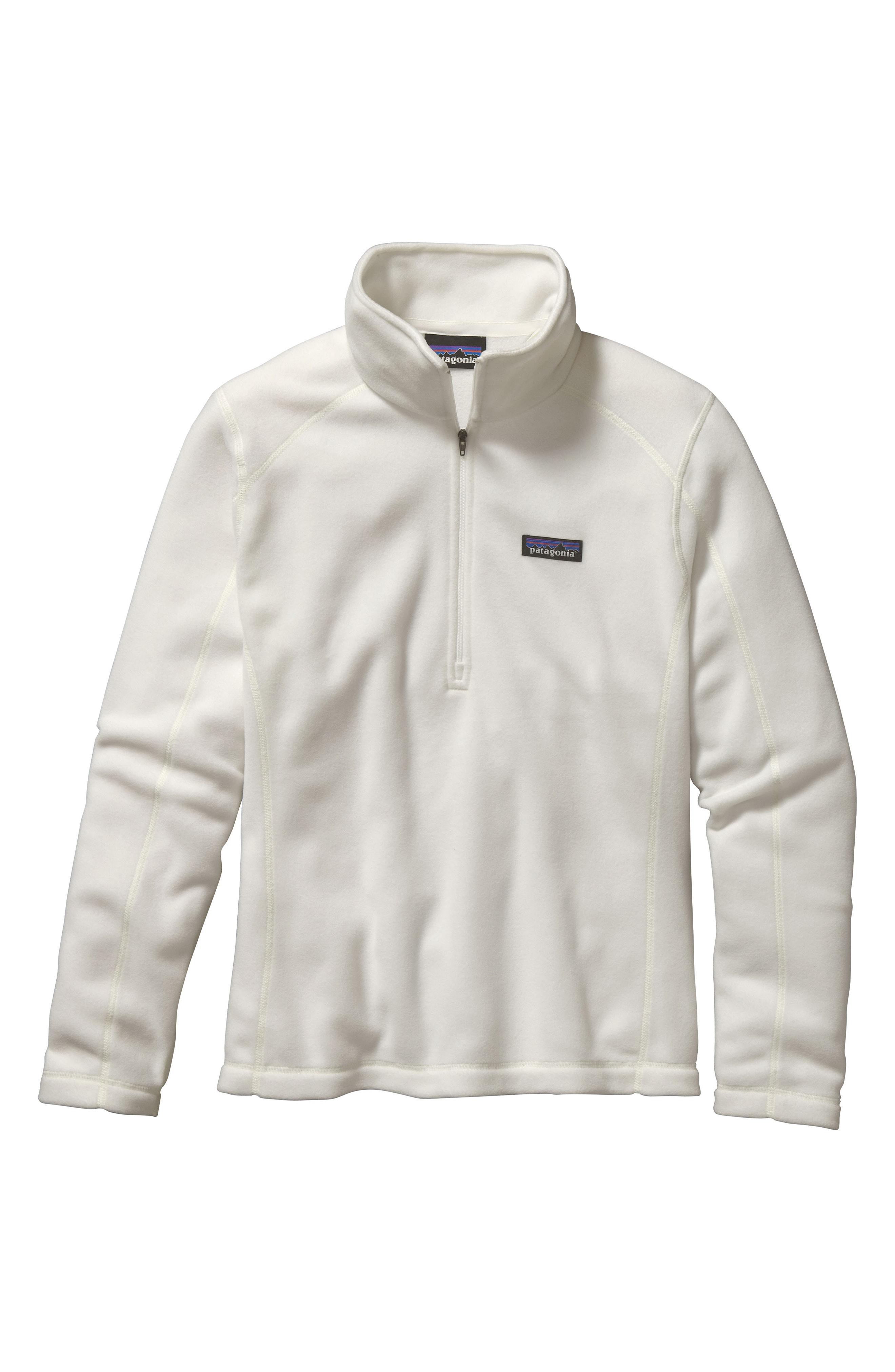 Patagonia Micro D Quarter-Zip Fleece Pullover In Birch White
