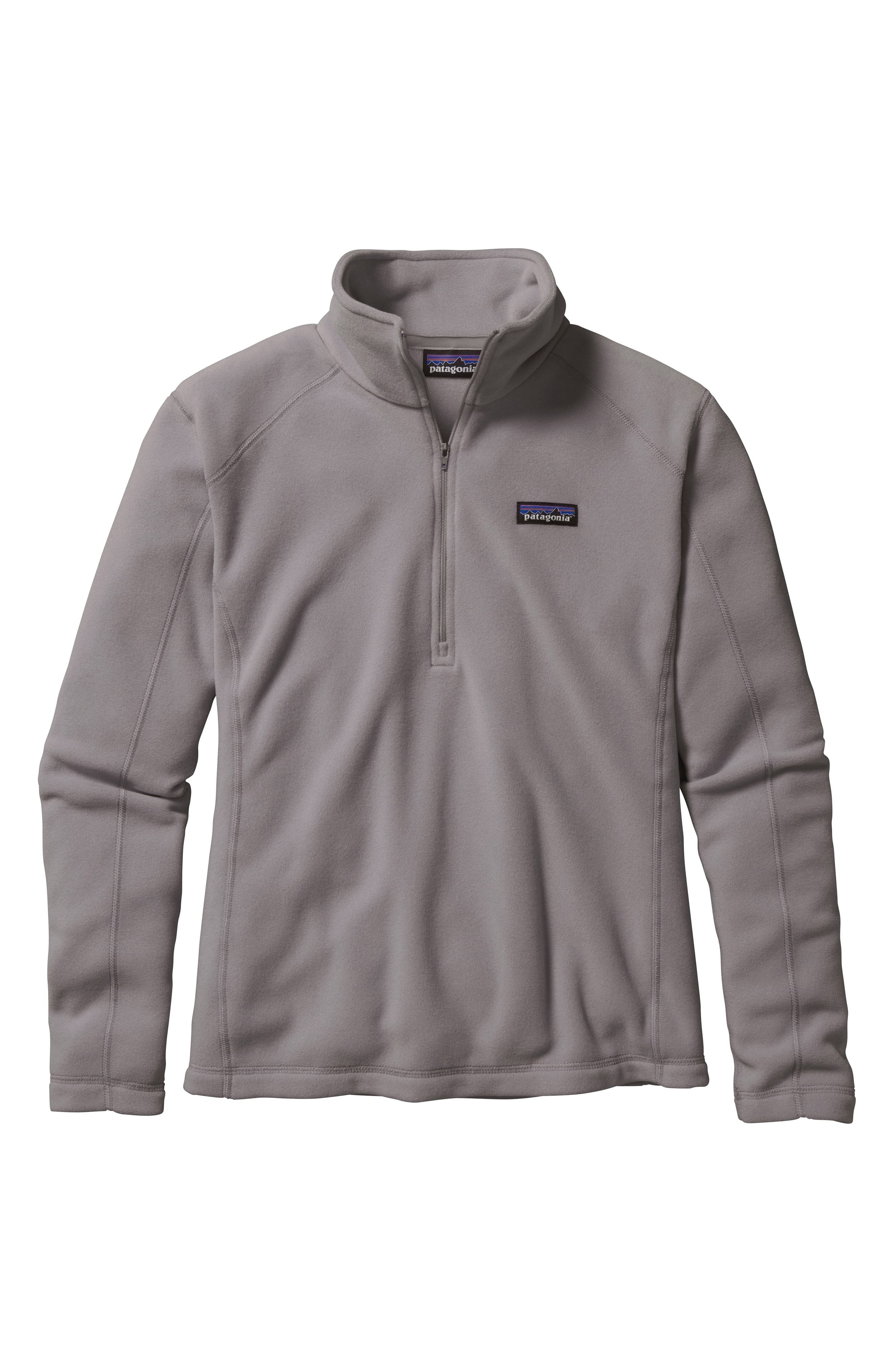 Patagonia Micro D Quarter-Zip Fleece Pullover In Feather Grey