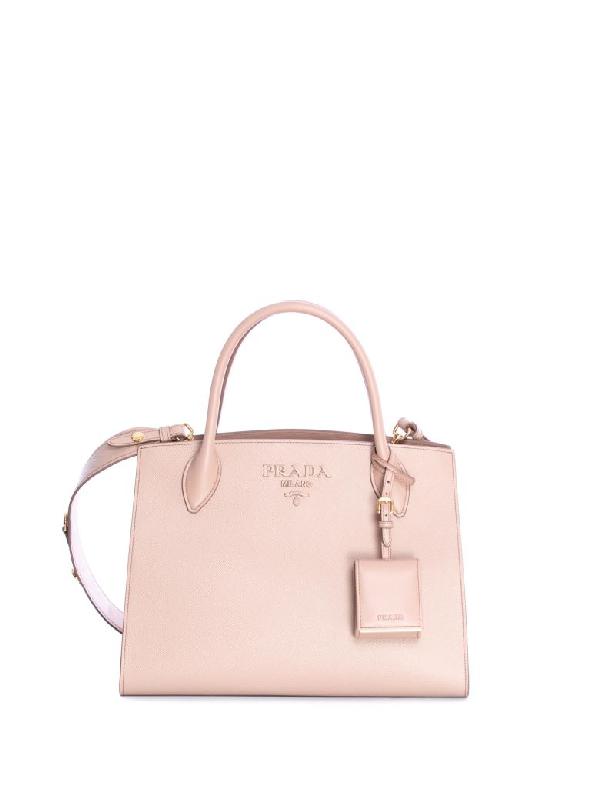925e2cc3103128 Prada Monochrome Handle Bag In Cipria | ModeSens