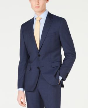 be279e2df Hugo Boss Hugo Men's Slim-Fit Mini-Check Jacket In Dark Blue | ModeSens