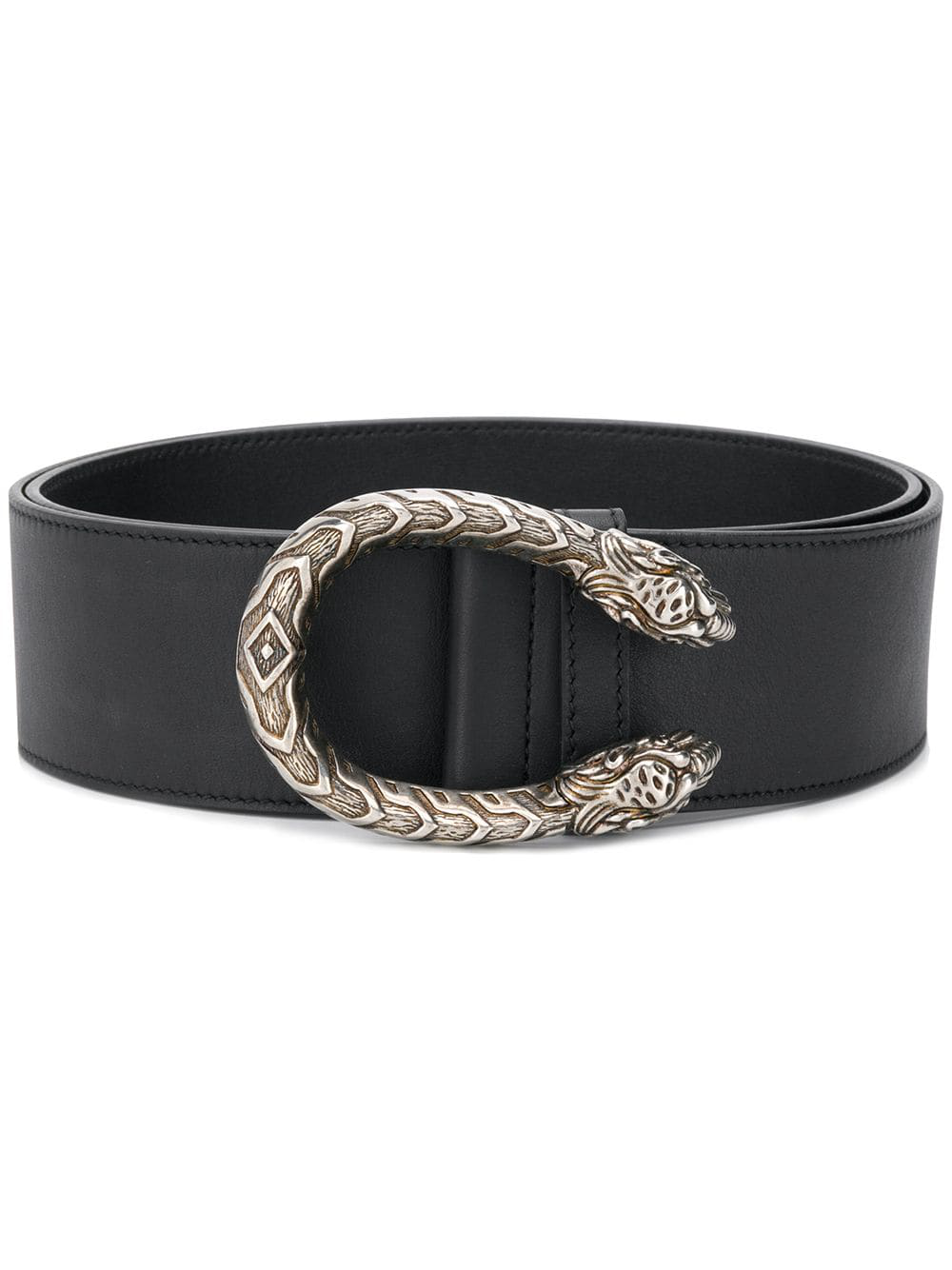 8c8ead59d Gucci Tiger Head Buckle Belt - Black   ModeSens